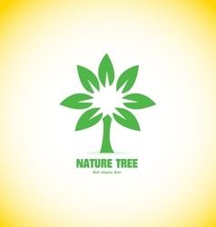Nature tree concept logo vector image