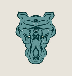 ornamental animal tattoo vector image