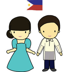 Philippines traditional costume vector