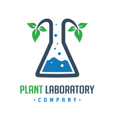 plant research laboratory logo design vector image
