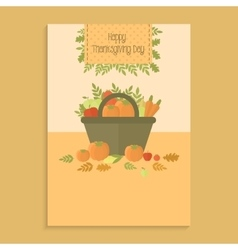 Poster for Thanksgiving day with pumpkins vector image