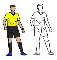 professional soccer referee sketch vector image