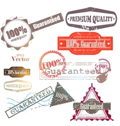 quality guarantee vector image