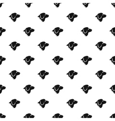 Retriever dog pattern simple style vector