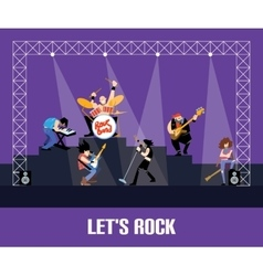 Rock band music group concert vector image
