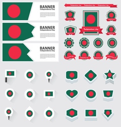 Set bangladesh vector