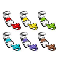 Set color tubes vector