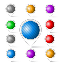 set of colorful markers vector image