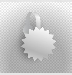 Shelf wobbler discount label isolated on vector