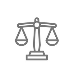 simple libra scale weight line icon symbol and vector image