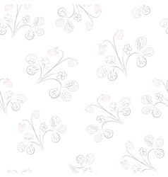 Subtle strawberry seamless pattern vector