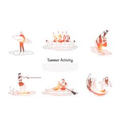summer activity - people doing water vector image