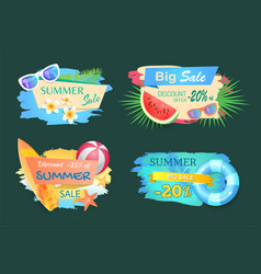 summer big sale banners text vector image