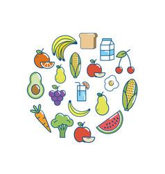 Tasty food nutrition backgrou design vector