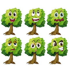 Trees with face vector image