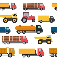 Truck Cars Seamless Pattern Background vector