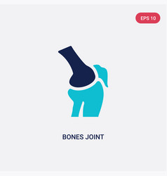 Two color bones joint icon from human body parts vector