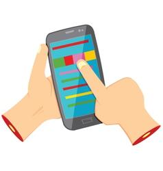 Using smartphone vector