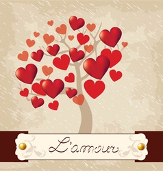 Valentines Day love tree vector