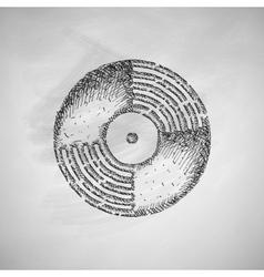 Vinyl record icon vector
