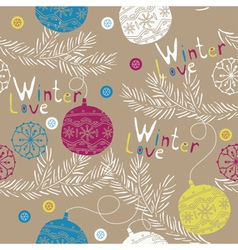 winter love wallpaper vector image