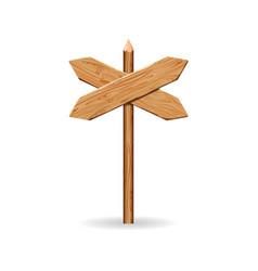 Wooden arrow signs board set wood vector