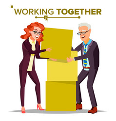 working together concept businessman and vector image
