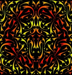 Yellow and red symmetrical pattern vector image