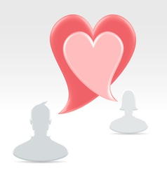 Couple declaring love with speech bubbles vector image vector image