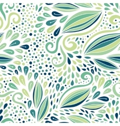 Floral seamless pattern Green modern ornament vector image vector image