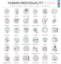 Human personality and mentality ultra vector image
