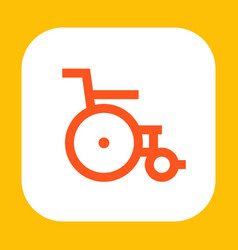 wheelchair icon vector image vector image