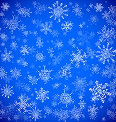 Blue Christmas background with different vector image vector image