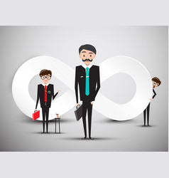 businessmen with infinity symbol vector image vector image