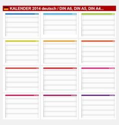 Calendar 2014 German Type 5B vector image vector image