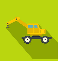 crane truck icon flat style vector image vector image