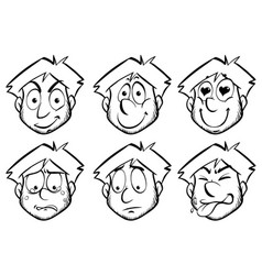 man with different emotions vector image vector image
