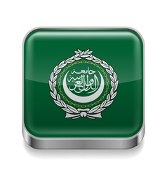 Metal icon of Arab League vector image