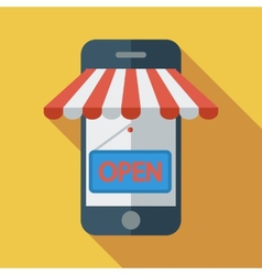 Mobile store vector image vector image