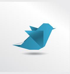 origami sparrow vector image