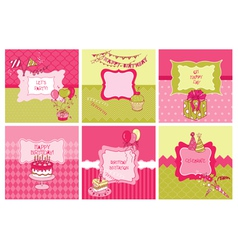 Set of Cards - Birthday and Party Theme vector image vector image