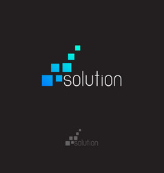 solution logo vector image vector image