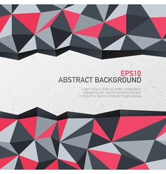 abstract triangle background with space for text vector image vector image