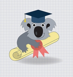 Animala Koala Graduation Icon vector image