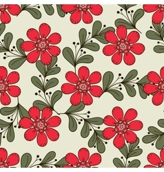 Doodle Flowers And Leaves vector image vector image