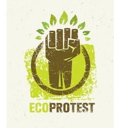 Eco protest creative green poster concept organic vector