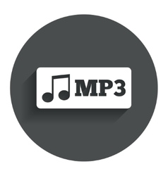 Mp3 music format sign icon Musical symbol vector image vector image