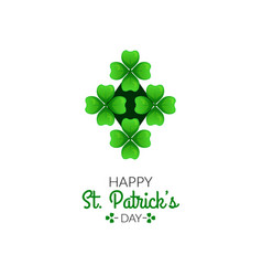 st patrick s day greeting card vector image