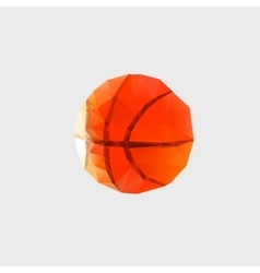 Low poly pattern basketball on a white background vector image