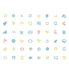 Modern web and mobile application color pictograms vector image vector image